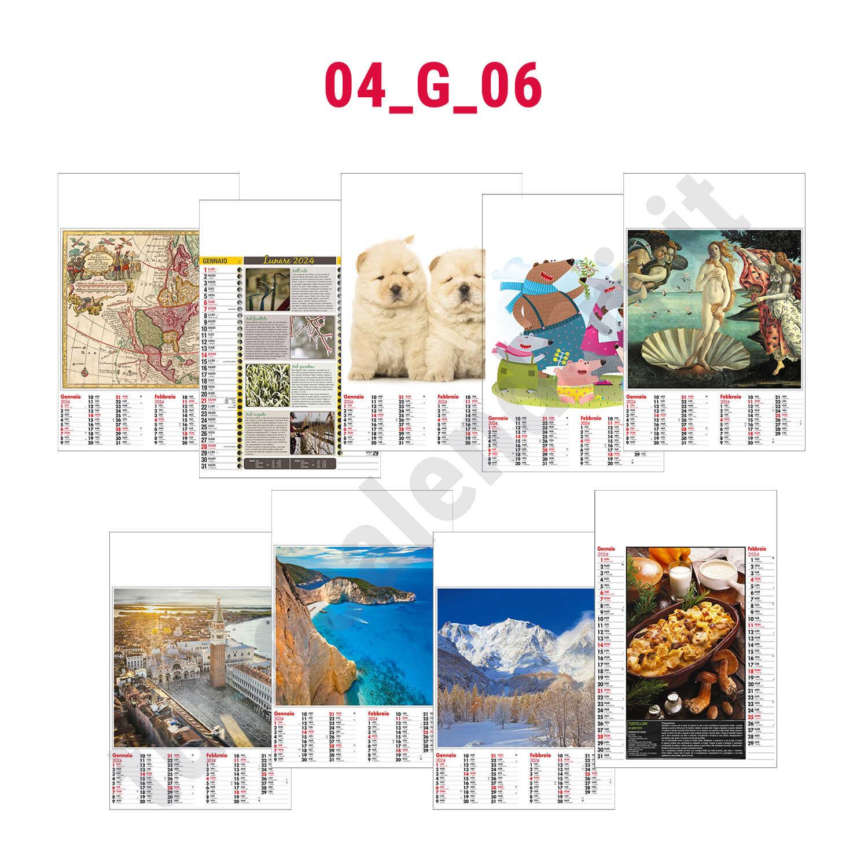 Calendario illustrato bimensile personalizzabile   serie 04_G_06