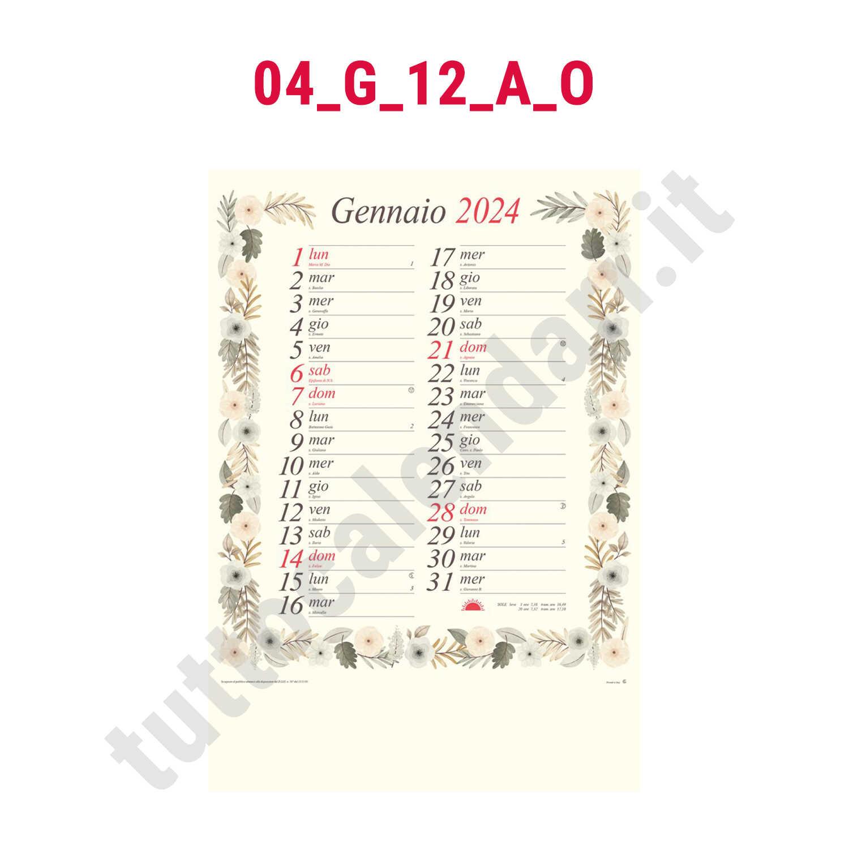 Calendario Antico.Calendario Mensile Illustrato Modello Antico Serie 04 G 12 A O