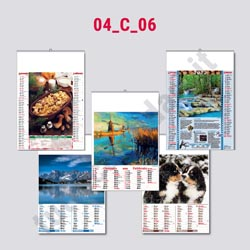 Calendario da parete bimensile illustrato