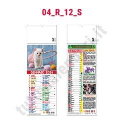 Calendari silhouette illustrati personalizzati