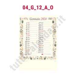 Calendario da parete mensile vari temi