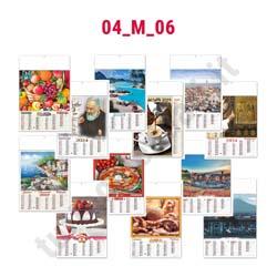 Calendario da parete bimensile illustrato