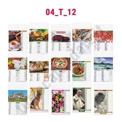 Stampa calendario da muro illustrato mensile
