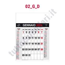 Stampa calendario commerciale da muro