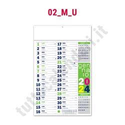 Stampa calendario commerciale da parete fluo