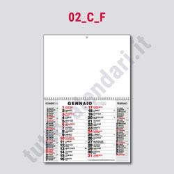 Stampa calendario da parete olandese