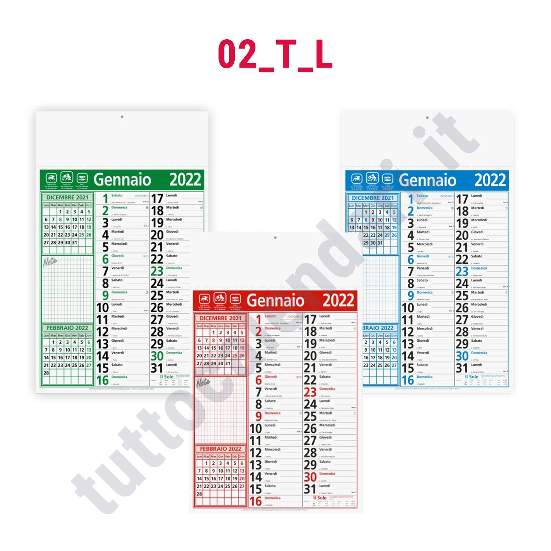 Calendario Con Note.Calendario Olandese Commerciale Con Note Da Parete Serie 02 T L