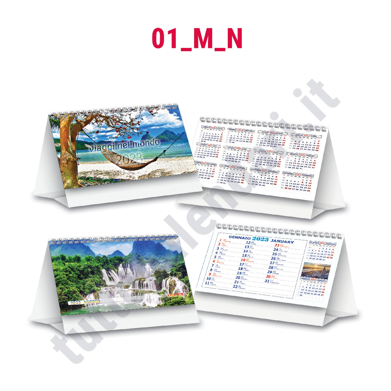 Calendario da tavolo illustrato con cavallotto stampato personalizzato serie 01 m n tutto - Calendari da tavolo con foto ...