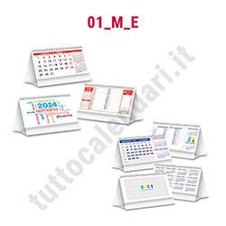 Calendario commerciale multicolor da tavolo