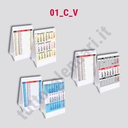 Stampa calendario verticale da banco