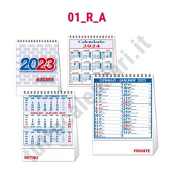 Stampa calendario verticale 2022