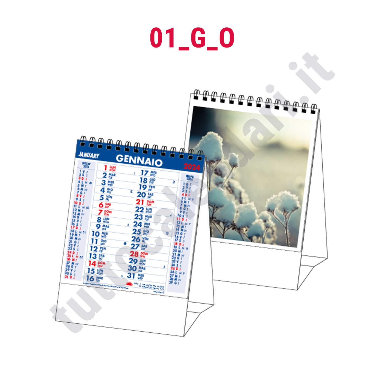 Calendario 2020 Da Tavolo.Calendario Da Tavolo Verticale Con Immagini