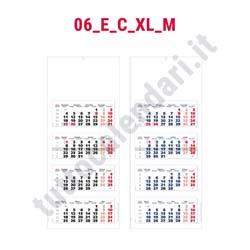 Stampa calendario quadrittico da parete