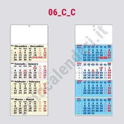 Stampa calendario quadrittico cordonato e incollato