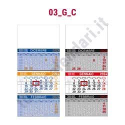 Stampa calendario trittico cordonato e incollato