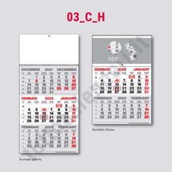 Stampa calendario trittico da parete
