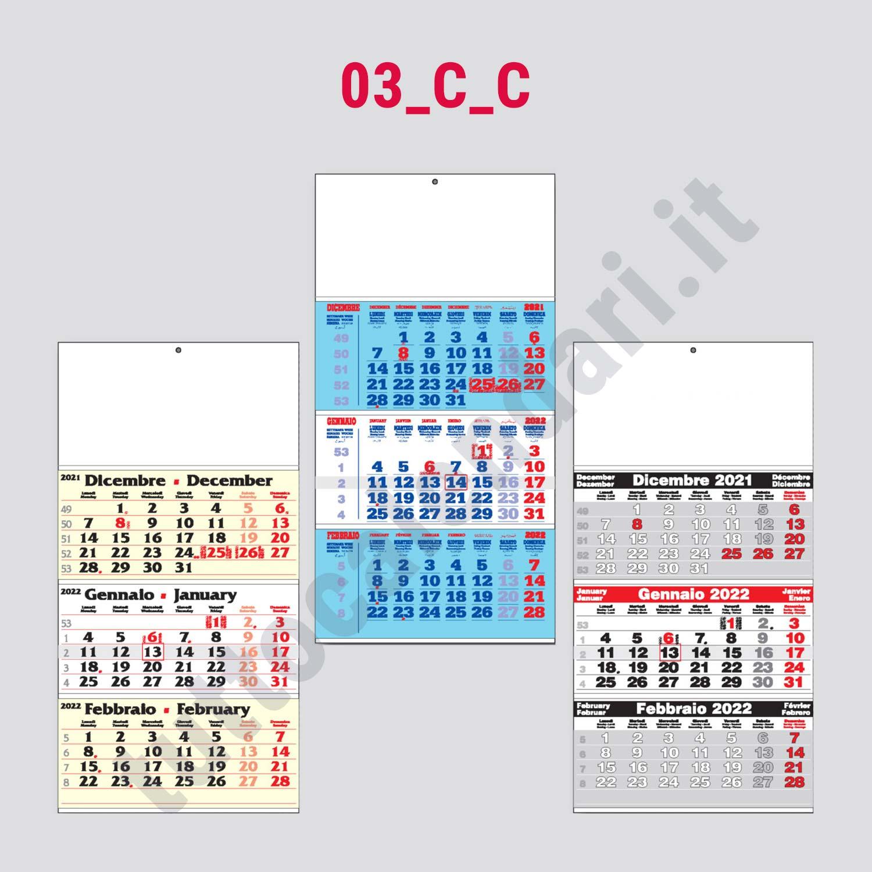 Calendario Con Festivita.Calendario Trittico Da Muro Con Festivita Internazionali Serie 03 C C